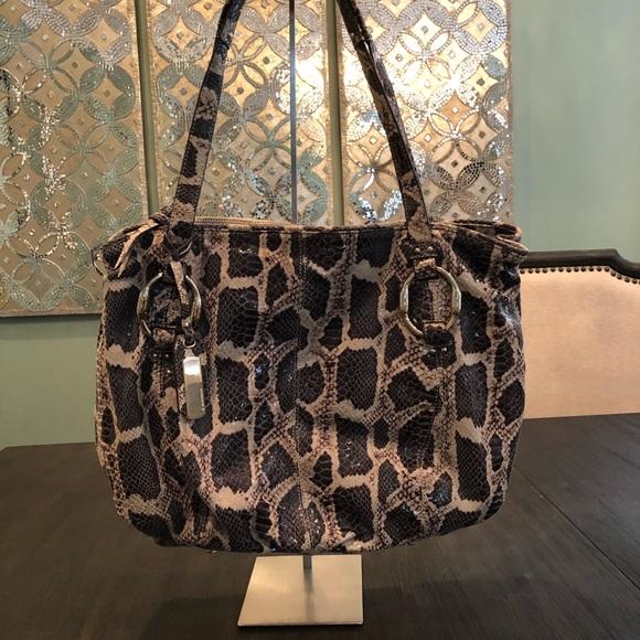 b. makowsky Bags   B Makowsky Snakeskin Handbag   Poshmark 74a49cbe56